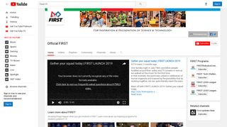 Official FIRST - YouTube