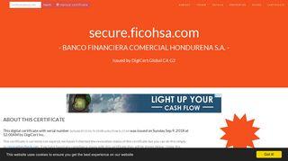 secure.ficohsa.com by Banco Financiera Comercial Hondurena S.A. ...