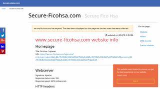 secure-ficohsa.com domain info (Secure Fico Hsa) - domain-status.com