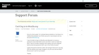 Can't log in to Mozilla.org | Firefox Support Forum | Mozilla Support