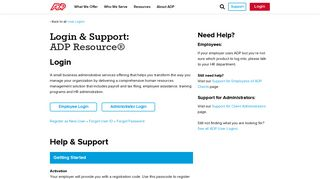 Login & Support | ADP Resource - ADP.com