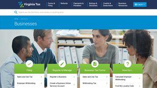 Businesses | Virginia Tax