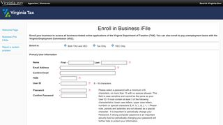 Enroll in Business iFile