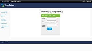 Tax Preparer Login Page - iReg Login