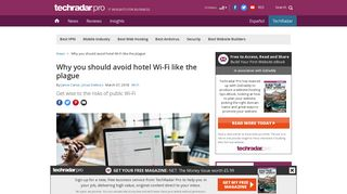 Why you should avoid hotel Wi-Fi like the plague | TechRadar