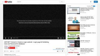 ASP.NET Tutorial 6- Create a Login website - Login page & Validating ...