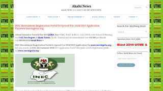 INEC Recruitment Registration Portal Is Opened For 2018/2019 ...