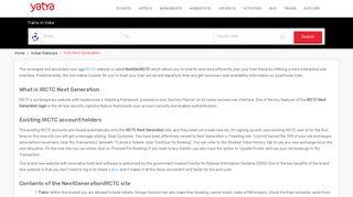 IRCTC Next Generation Login ( IRCTC Next Gen e-Ticketing) - Yatra ...