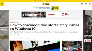 How to download and start using iTunes on Windows 10 | iMore