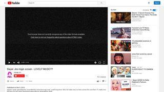 Slayer Jinx login screen - LOVELY MUSIC!!!! - YouTube