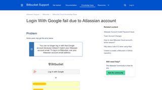 Login With Google fail due to Atlassian account - Atlassian ...