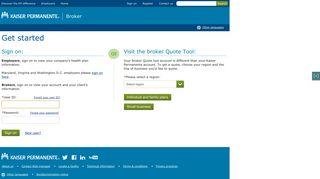 Sign on | Kaiser Permanente Brokers