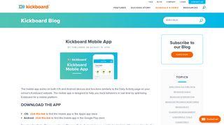 Kickboard Mobile App | Kickboard UK