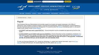 Payroll - UCSB Student Affairs