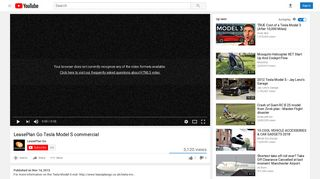 LeasePlan Go Tesla Model S commercial - YouTube