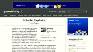 Littlest Pet Shop Online   GamesIndustry.biz