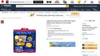 Amazon.com: Littlest Pet Shop Online LPSO Web Game Starter Pack ...