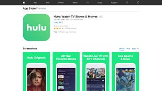 Hulu: Watch TV Shows & Movies on the App Store - iTunes - Apple