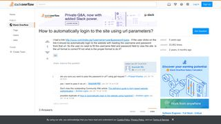 How to automatically login to the site using url parameters ...