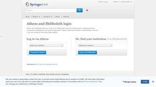 Shibboleth Login - Springer Link