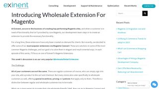 Introducing Wholesale Extension For Magento - Exinent