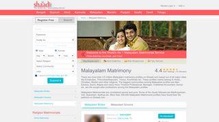 Malayalam Matrimony - No 1 Site for Kerala Matrimonials and Marriage