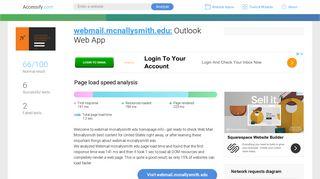 Access webmail.mcnallysmith.edu. Outlook Web App
