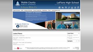 LeFlore High School: Latest News - Student Log-in for e-mail, iNow ...