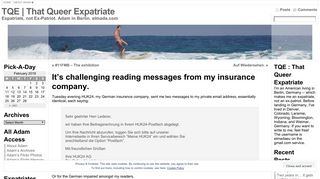 It's challenging reading messages from my insurance company. « TQE ...