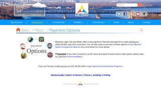 Payment Options - MLGW.com