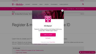 Register & manage your T-Mobile ID | T-Mobile Support