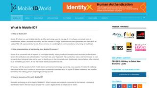 What Is Mobile ID? - Mobile ID World
