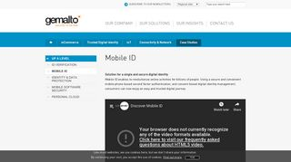 Mobile ID: Digital Identity Services by MNOs - Gemalto