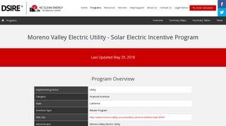 Moreno Valley Electric Utility - DSIRE