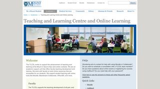 MSVU - Teaching and Learning Centre and Online Learning