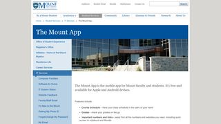 The Mount App - MSVU