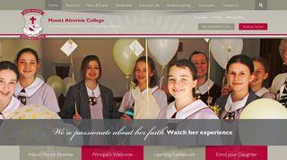Home - Mount Alvernia CollegeMount Alvernia College