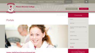Portals - Mount Alvernia CollegeMount Alvernia College
