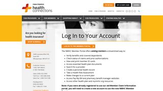 My Account Login - New Mexico Health Connections