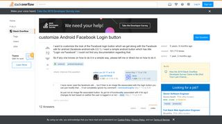 customize Android Facebook Login button - Stack Overflow
