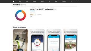 myAir™ for Air10™ by ResMed on the App Store - iTunes - Apple