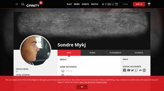 Sondre Mykj :: Profile :: Gfinity