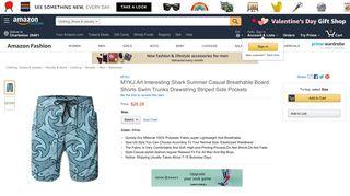 Amazon.com: MYKJ Art Interesting Shark Summer Casual Breathable ...