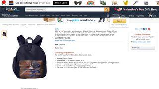 Amazon.com | MYKJ Casual Lightweight Backpacks American Flag ...