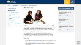 MyPerformance - Province of British Columbia - Government of B.C.