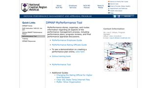 MyPerformance Tool - Defense Health Agency National Capital ...
