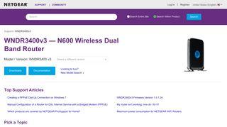 WNDR3400v3   N600 WiFi Router   NETGEAR Support