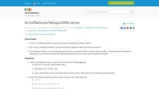 Arris/Motorola Netopia 2000-series - Intermedia Knowledge Base