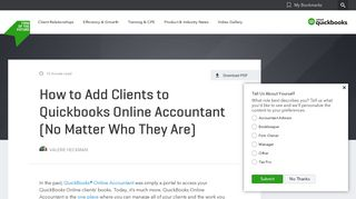How to Add Clients to Quickbooks Online Accountant (No Matter Who ...