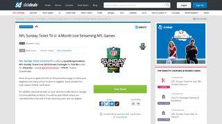 NFL Sunday Ticket TV U: 4-Month Live Streaming NFL Games ...